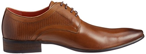 Lucius Mens Cuir Embossed Chaussures À Lacets Robe-orteil Marron