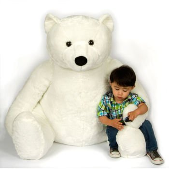 37 Plush Sitting Polar Bear Large Giant Cuddly Soft Toy Kellytoy