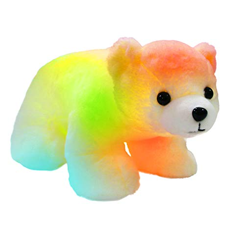 Bstaofy Glow Polar Bear LED Stuffed Animals Night Light Curious Soft Plush Adorable Floppy Toy Gift for Kids on Christmas Birthday, 11'', White
