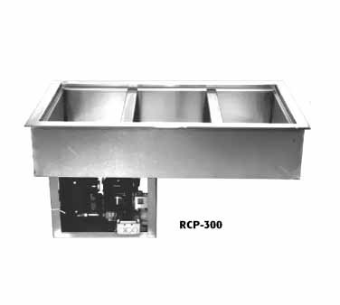 Drop In Unit 3 Pan (Wells RCP-300 Cold Food Unit drop-in mechanically cooled 3-pan size with drain)