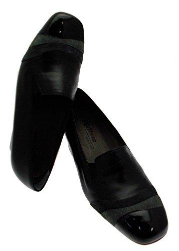 l'art de la chaussure femme X4131 col en cuir noir