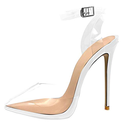 Cdvintu Women Pointed Toe Transparent High Heels Lucite, used for sale  Delivered anywhere in USA