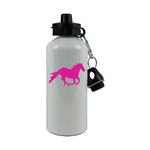 - Personalized Custom Horse Aluminum White Finish 20 Ounce 600ML Sport Water Bottle Customizable (Hot Pink)