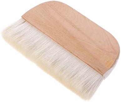 Zhujian - Brocha para pelo de cabra con mango de madera (17,8 cm)