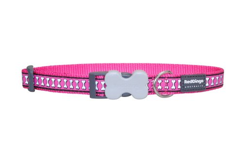 (Red Dingo Reflective Dog Collar, Small, Hot Pink)
