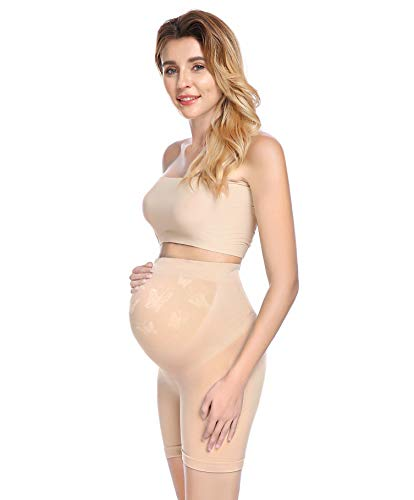 Maternity Shapewear for Dresses Spanx Pregnancy Underwear Seamless High Waist Shorts Nude S
