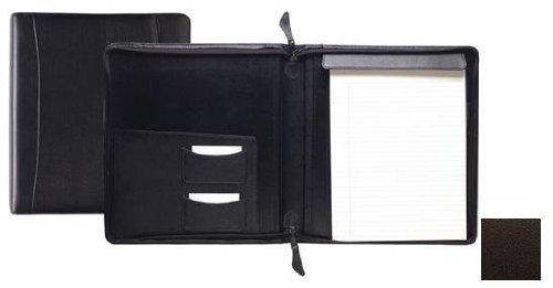 Raika TN 143 BROWN Standard Zipper Writing Pad - Brown by Raika
