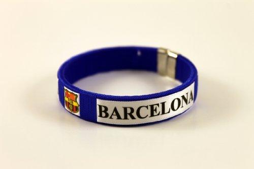 Barcelona Team Logo Spanish Soccer Bracelet Wristband - Team Bracelet Logo