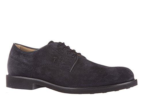 Tod's chaussures à lacets classiques homme en daim derby caoutchouc light blu