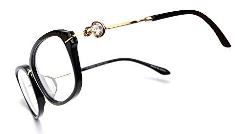 OCCI CHIARI Eyeglasses With Clear Lenses Fashion aloi Acetate Frame (Black, - Acetate Cleaning Frames