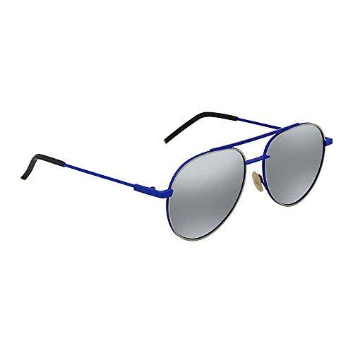 Fendi Men's F0222 Aviator Sunglasses, Blue, ()