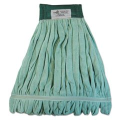 Microfiber Mop Head, Wet Mop, Medium, Green, 12/Carton, Sold as 1 Carton, 12 Each per Carton