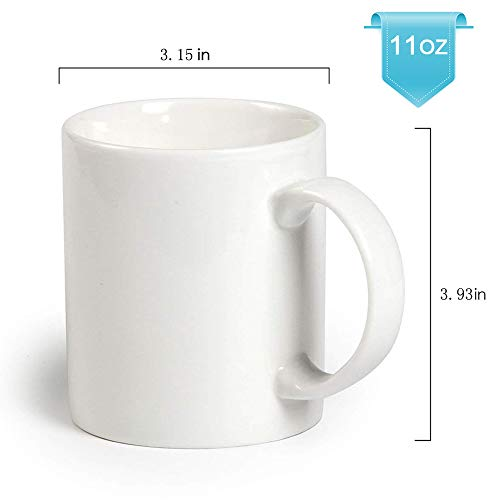 Bosstop 8PCS 11OZ Sublimation Mug Coated Ceramic Mugs White - Import