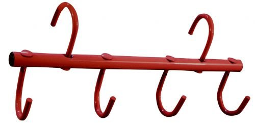 Showman 4 Hook Portable Travel RED Tack Rack for Trailer or Barn
