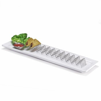 Stainless Steel Mini Taco Holder for 11 Or 12 Mini Tacos by G.E.T. Enterprises 4-81828
