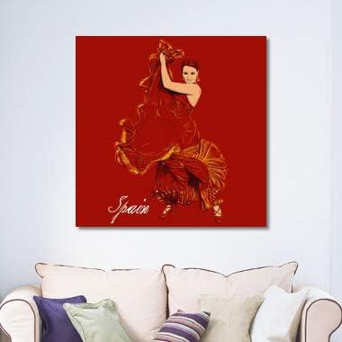 latostadora - Lienzo Espana Flamenco Lienzo Cuadrado 1:1 - (80 x 80 cm): SiempreOriginal: Amazon.es: Hogar
