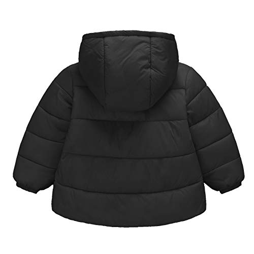 Kids Outwear Age for Warm Girls Coat Years Down Autumn Happy Baby Cherry 1 Jacket Boys Hooded 6 Winter Parka Black Thick WZzZ716a