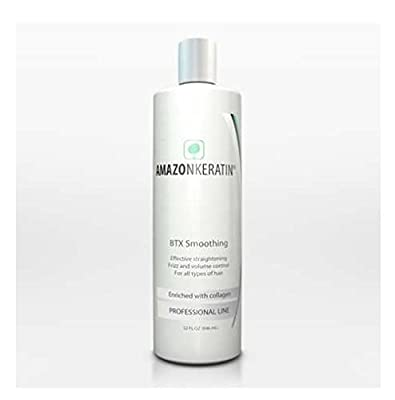 Amazon Keratin BTX Smoothing Treatment Enriched with Collagen. Hair Botox Effective Straightening Frizz and Volume Control. For all types of hair. 473 ml / 16 Oz