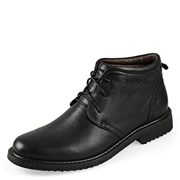LOVDRAM Stiefel Männer Herrenschuhe Warme Lederstiefel