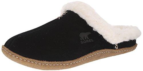 Sorel Nakiska Slide, Damen Pantoffeln Schwarz (Black, Fossil 010)