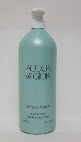 Giorgio Armani Body Lotion for Women, Acqua Di Gioia (33.8 Ounce)