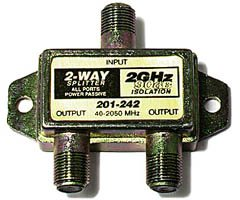 2.5GHz 90dB Satellite Splitters - 2-Way Electronics & computer accessories - Steren 2 Way Splitter