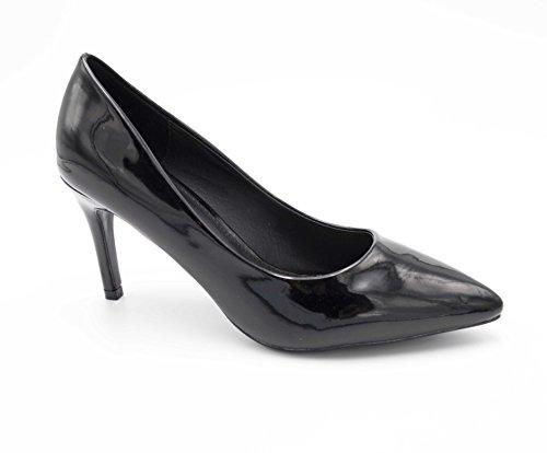 Fashion Escarpin 8cm Escarpin Moyen 8CM Chaussures Shoes Femmes 5CM Chaussures Fin Dégradées Vernis Femme Talon Talon Noir Escarpin ou 5rU5qwS