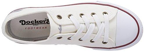 36UR201 Bianco ginnastica Donna Weiss da 710 Gerli Dockers Scarpe by OA1qwE