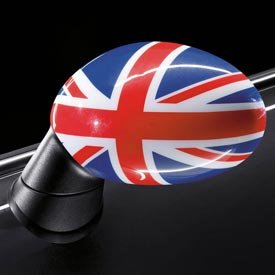 Genuine Oem Mini Cooper Union Jack Mirror Covers  Standard Without Powerfold Option Sa313  Set Of 2  Includes 1 Right   1 Left Cover
