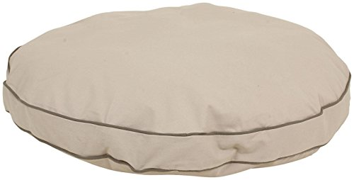 - Cpc Classic Cotton/Twill Round-A-Bout Bed for Pets, 27-Inch, Khaki