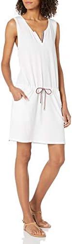 Tommy Hilfiger Women's Short Sleeve Swimsuit Beach Cover Up Dress