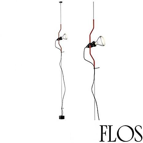 Flos Parentesi Dimmerabile Lampada Sospensione Rosso F5600035 LAMPADINA LED  INCLUSA