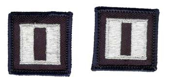 Navy LT (03) Rank Insignia Collar Device (pair) Patch ()