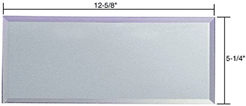 CRL Clear Six-Gang Blank without Screw Holes Glass Mirror Plate BMP6GC