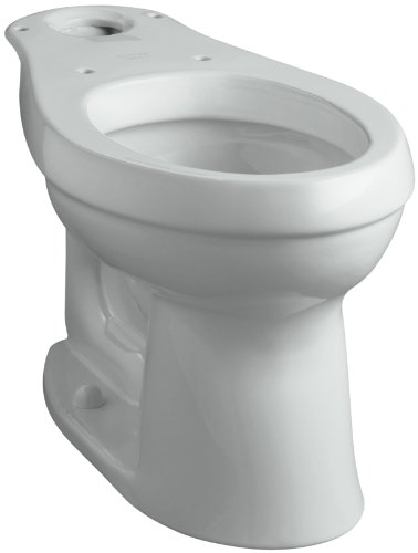Elongated Height Complete Solution Toilet - KOHLER K-4309-95 Cimarron Comfort Height Elongated Toilet Bowl with Class Five Flushing Technology, Ice Grey