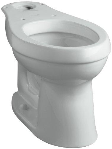 Rough Ice Elongated Grey - KOHLER K-4309-95 Cimarron Comfort Height Elongated Toilet Bowl with Class Five Flushing Technology, Ice Grey