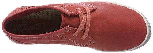 Softinos Indira Washed, Sneaker a Collo Alto Donna Rosso (Rosso)