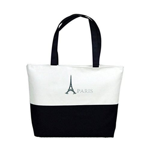 Shoulder Bag Bags Handbag Pattern Girls Eiffel Beach Shopping Canvas Tower Fcostume rrqTwH