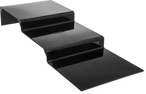 Carlisle 684303 Polycarbonate 3 Step Riser with Glossy Finish, 11-3/4'' W, Black by Carlisle