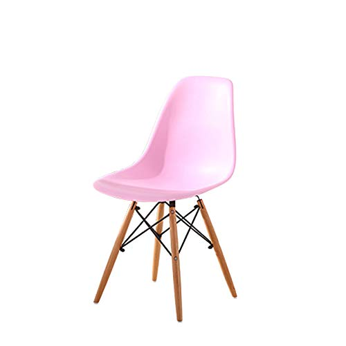 Pink Simple Fashion Plastic Leisure Computer Chair Creative Office Conference Chair Office Chair Simple Home Chair (color   White)