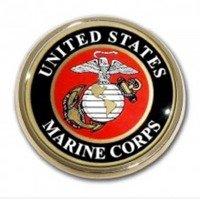 Marine Seal Chrome Auto Emblem
