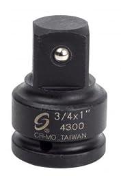 Sunex 4300 3/4-Inch Female 1-Inch Male Impact Socket Adapter