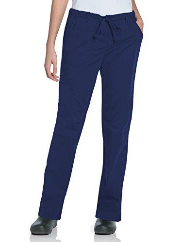 Landau Women's Tall Pre-Washed Cargo Scrub Pant, Navy, Medium/Tall ()