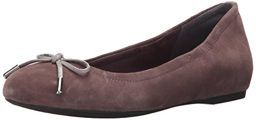 Rockport Donna Movimento Totale 20mm Arco Balletto Passero Pelle Scamosciata