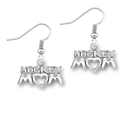 Charm Mom Hockey - Infinity Collection Hockey Mom Charm Earrings, Hockey Mom Jewelry for Moms