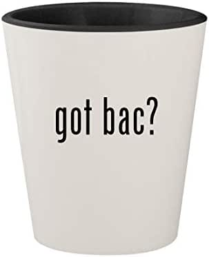 got bac? - Ceramic White Outer & Black Inner 1.5oz Shot Glass