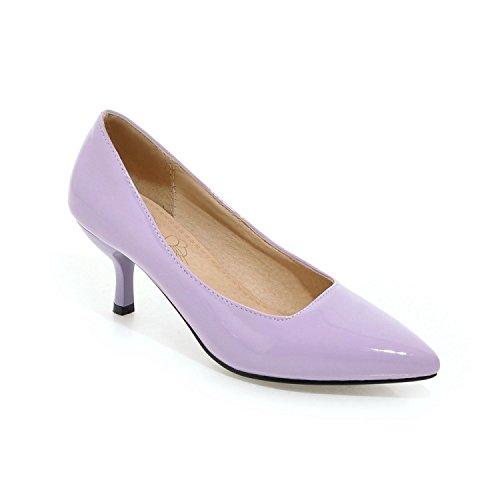 Yardas Boca Pointed Solos Mujeres De Purple zapatos Zapatos Individuales tacón 46 alto Las Baja Grandes Temporada Heel Cuero Pintura de Yukun Zapatos Light Súper Female De CgzwqfC