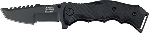 MTech USA Xtreme MX-A805 Spring Assist Folding Knife, Black Tanto Blade, Black Handle, 5-Inch Closed (Black G10 Handle Blade Mx)