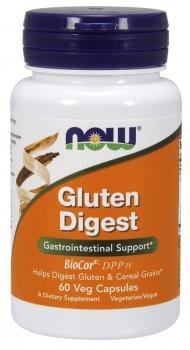 NOW Foods - Gluten Digest Gastro-Intestinal Support - 60 Vegetarian Capsules