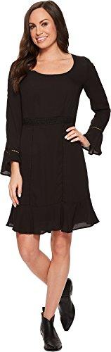 (Stetson Women's 1494 Poly Crepe Long Sleeve Dress Black 4)